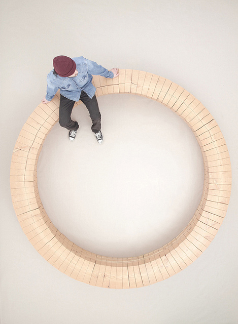 wood ring bench/ chris kabel